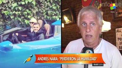Invitado a distintos programas, Andrés Nara suele criticar a su hija Wanda