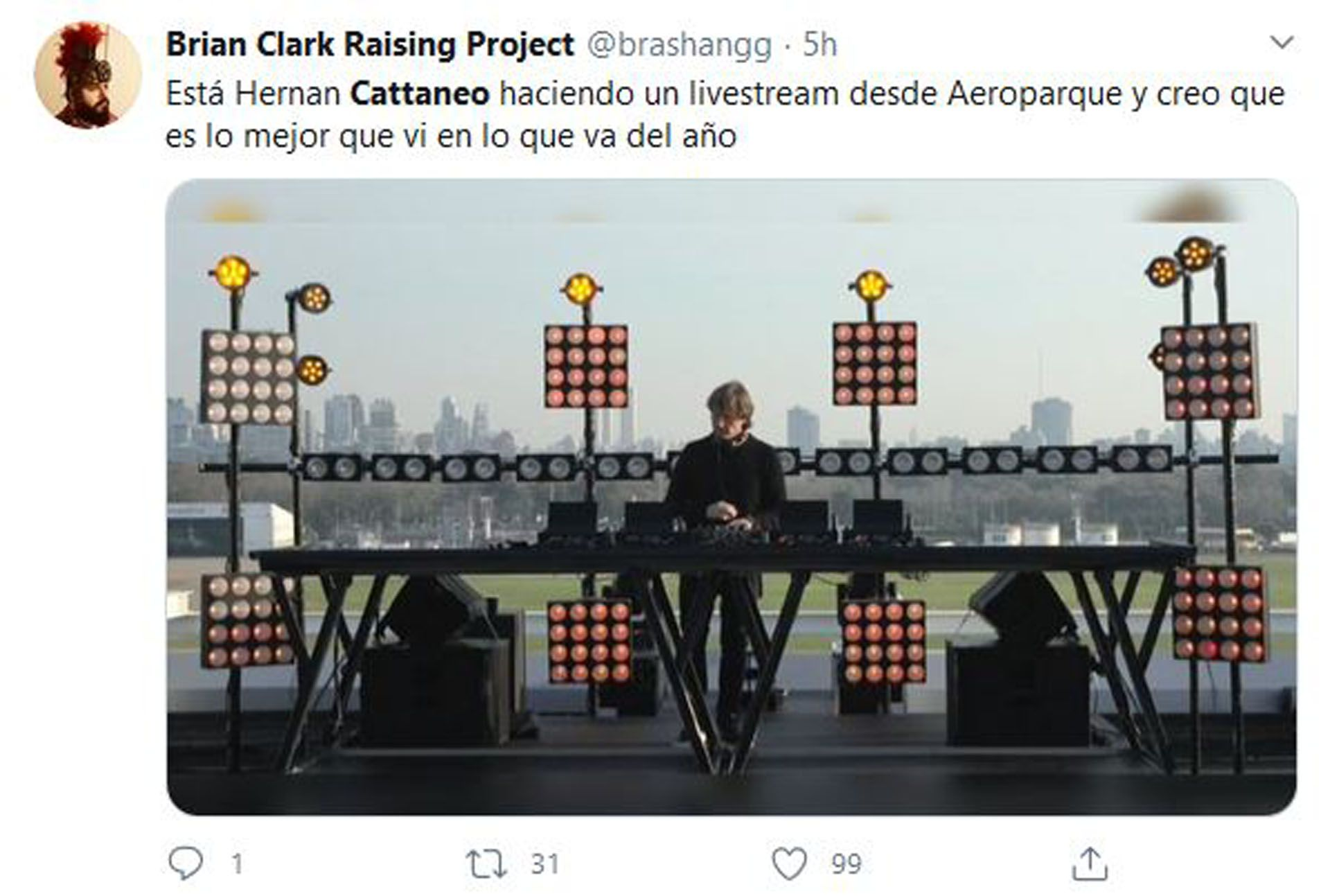 Hernán Cattaneo (Foto: Twitter)