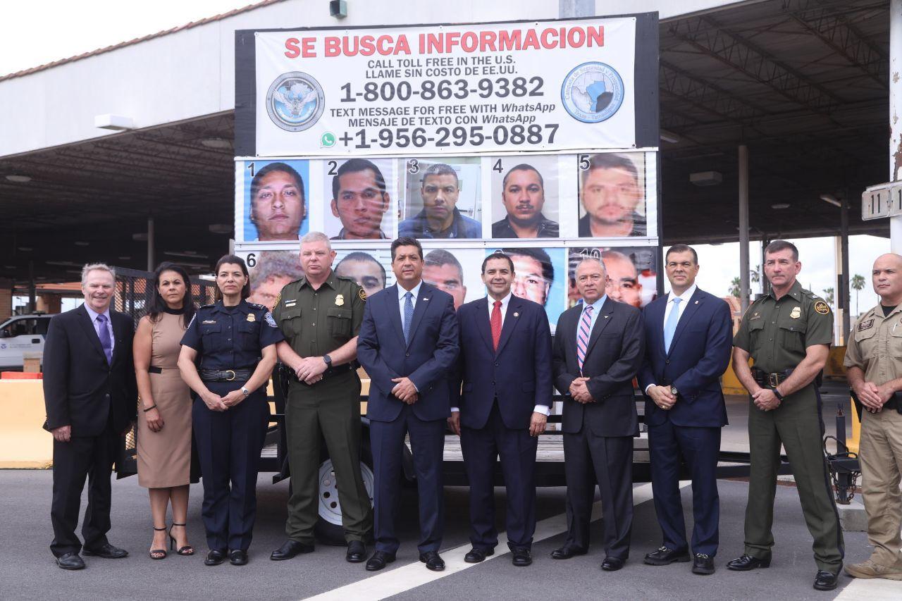 Fotografía 2019. El gobierno de Tamaulipas y las autoridades de Texas presentaron la lista de la Campaña de Seguridad Se Busca (Foto: Twitter/VÍA fgcabezadevaca)