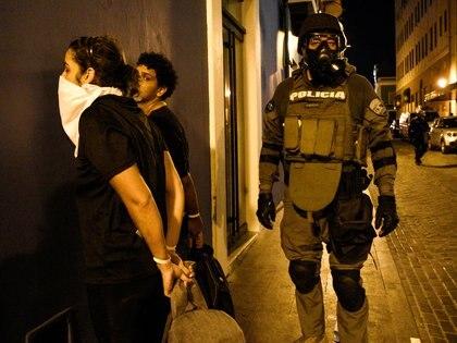 La policía detuvo a cinco manifestantes (Reuters)