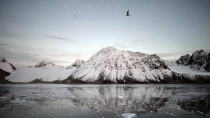 La pérdida de hielos en los polos es otro elemento visible del cambio climático.