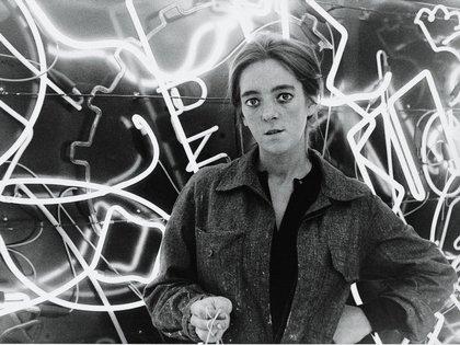 "Martha Minujín y ""La menesunda"", en 1965"