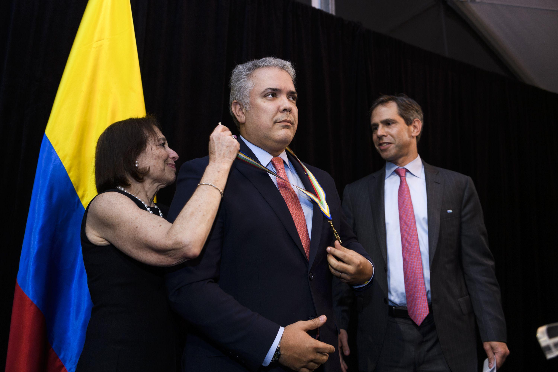 El presidente colombiano, Iván Duque, uno de los galardonados por la Americas Society en la noche de Nueva York (Paula Abreu Pita/Roey Yohai Photography)