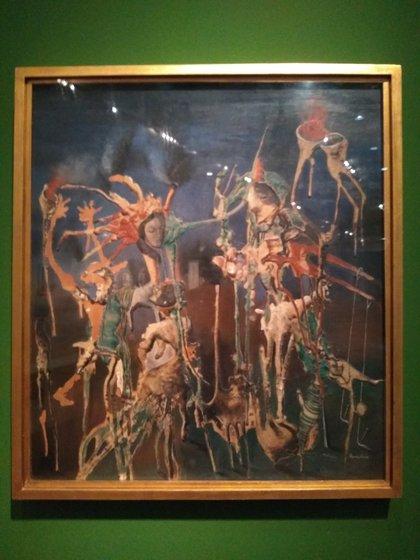 """""""Temáticas vegetales"""" (1938), obra de su etapa surrealista, cuando aún vivía en Europa (Juan Batalla)"""