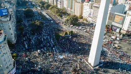 El Obelisco fue el epicentro de la manifestación (Thomas Khazki)