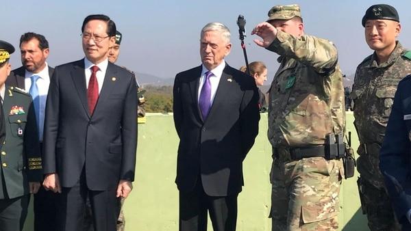 Mattis durante su visita de este viernes a Corea del Norte. (Reuters)