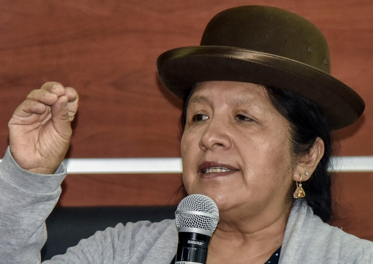 María Eugenia Choque Quispe. (Photo by AIZAR RALDES / AFP)