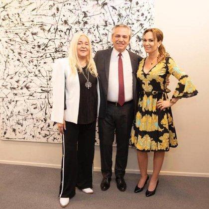 María Denegri, Alberto Fernández y Natalia Denegri