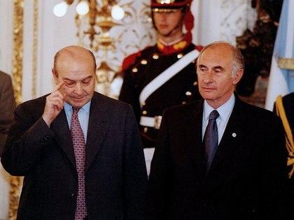 Fernando De La Rua y su ex ministro de economia Domingo Cavallo (NA)
