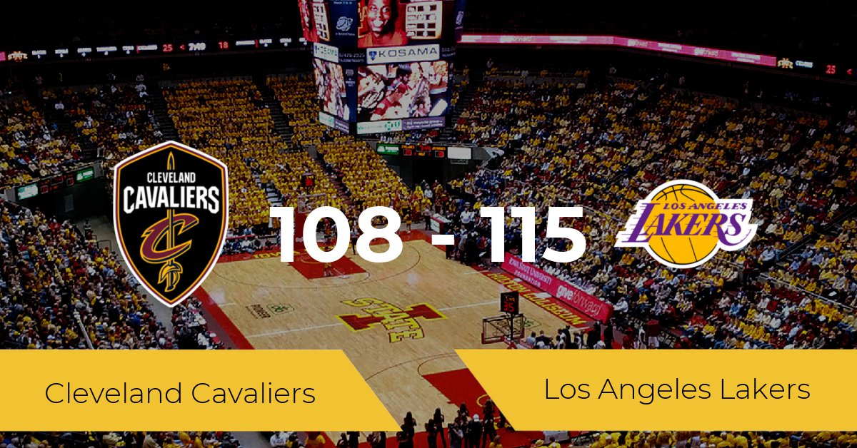 Los Angeles Lakers win against Cleveland Cavaliers 108-115