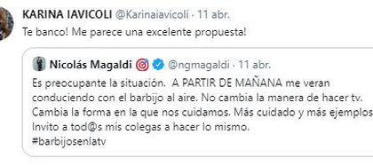 Karina Iavicoli apoyó a Nicolás Magaldi