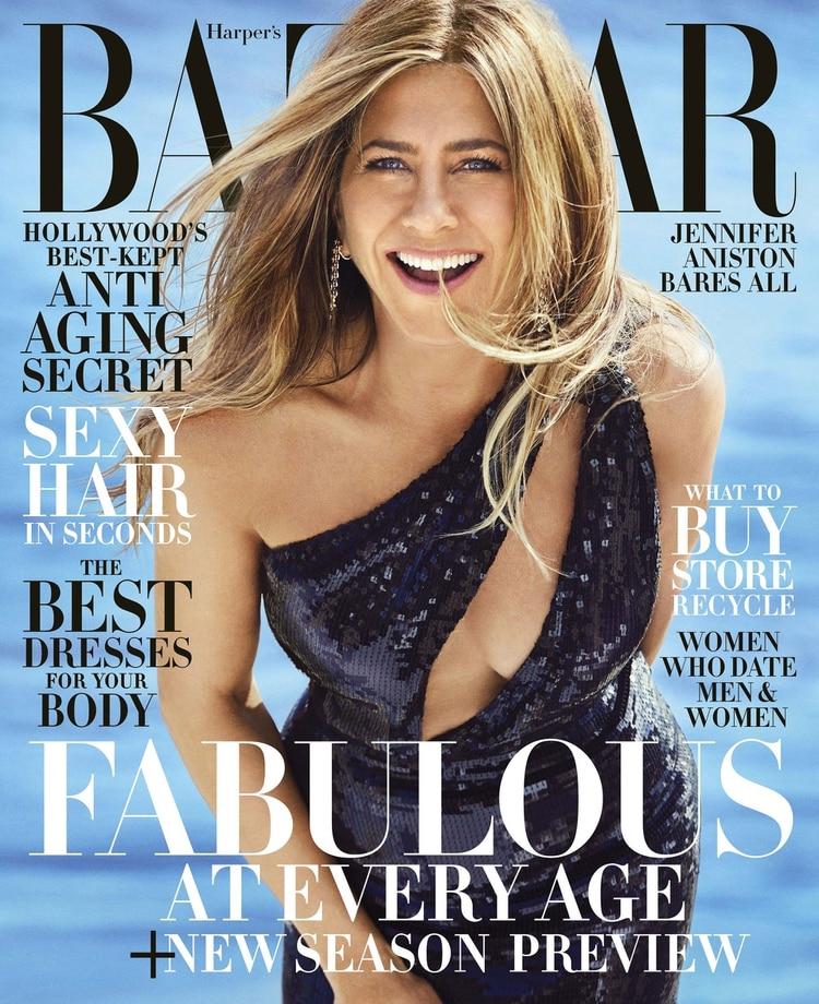 Jennifer Aniston posó para Harper's Bazaar