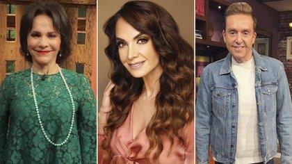 De izquierda a derecha, Pati Chapoy, Lupita Jones y Daniel Bisogno (Foto: Instagram)