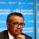 Director General of the World Health Organization (WHO) Tedros Adhanom Ghebreyesus attends a news conference on the situation of the coronavirus (COVID-2019), in Geneva, Switzerland, February 28, 2020. REUTERS/Denis Balibouse