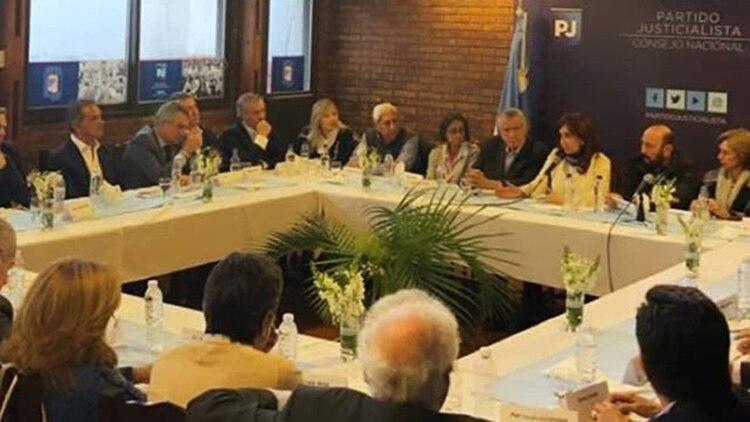 La reunión dentro del Partido Justicialista