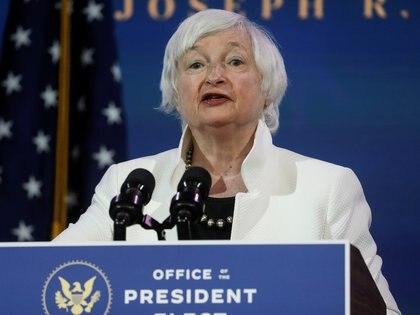 Janet Yellen, la candidata del presidente electo de los Estados Unidos Joe Biden para ser secretaria del Tesoro (REUTERS/Leah Millis)