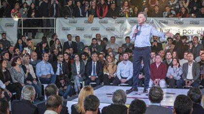 Mauricio Macri, ayer, en Santa Fe
