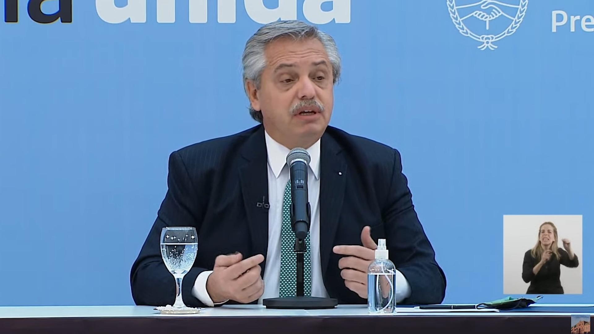 El presidente Alberto Fernández anunció la puesta en marcha del DNI para personas no binarias
