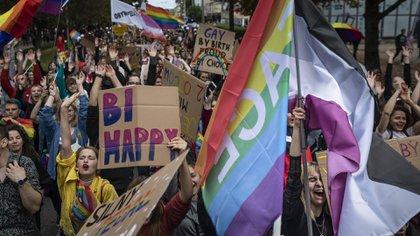 Un desfile del orgullo gay en Polonia (Wojtek RADWANSKI / AFP)
