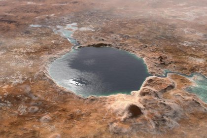 El cráter Jezero, tuvo abundante agua hace unos 3.500 millones de años  NASA/JPL-CALTECH