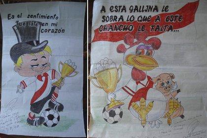 Algunos de los dibujos que Robledo Puch me regaló durante nuestros diez encuentros en Sierra Chica (Rodolfo Palacios)