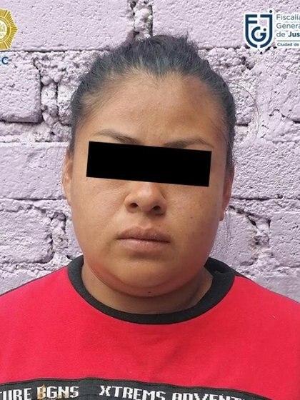 La mujer de 25 años fue detenida Foto: (Fiscalía CDMX)