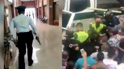 Después de robar a un taxista, los dos delincuentes buscaron esconderse dentro de las instalaciones del centro comercial. Sin embargo, fueron objeto de linchamiento por la comunidad. Foto: Redes, El País