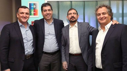 Migoya, Umaran, Nocetti y Englebienne, los fundadores de la compañía