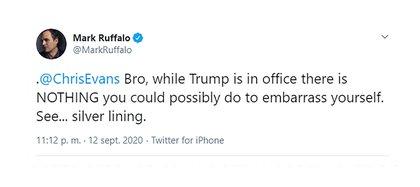 Mark Ruffalo's tweet