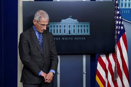 El doctor Anthony Fauci en la Casa Blanca el 6 de abril de 2020 (REUTERS/Kevin Lamarque)