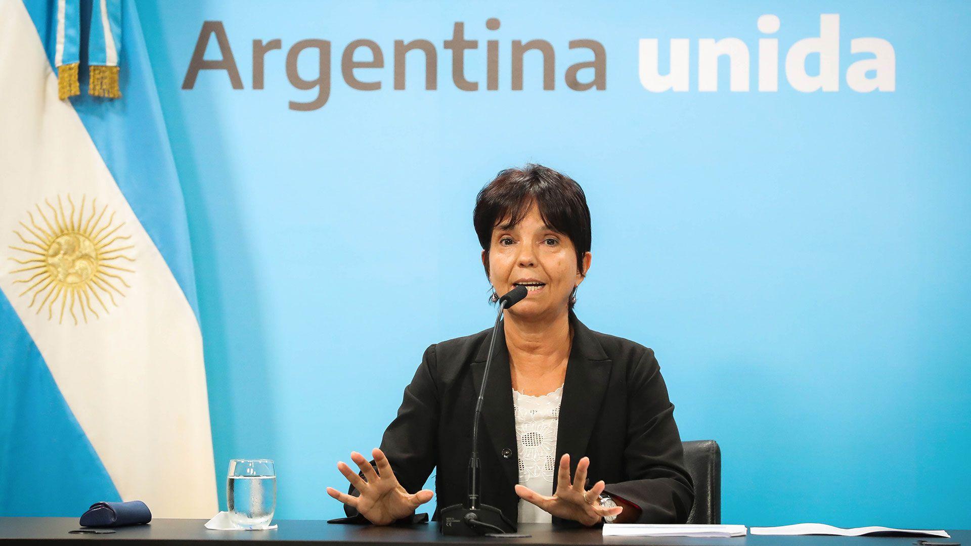 La directora de la AFIP, Mercedes Marcó del Pont, acusa diariamente los efectos de la pérdida de capacidad contributiva de las familias y empresas por la cuarentena (Télam)