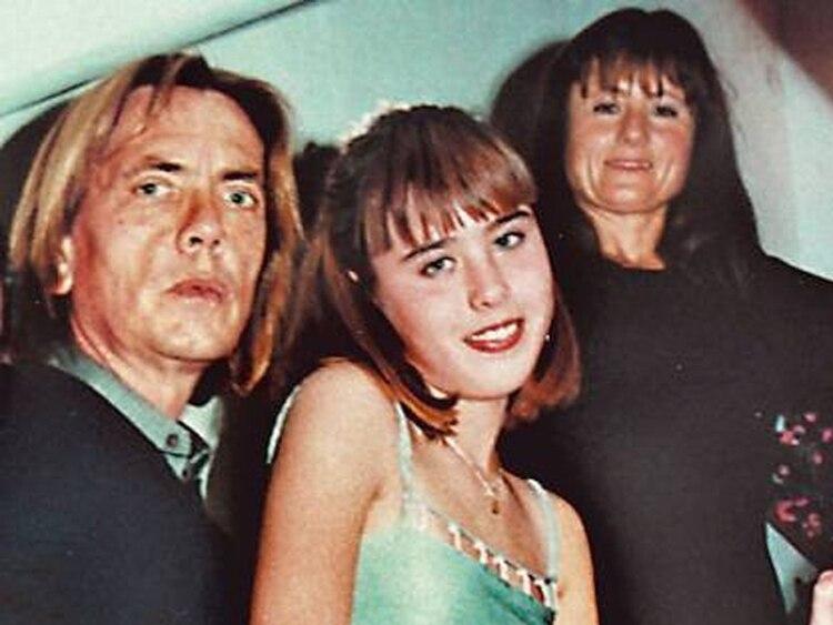 Familia: Fraticelli, su entonces pareja y su hija.