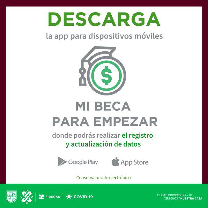 beca para empezar cdmx app