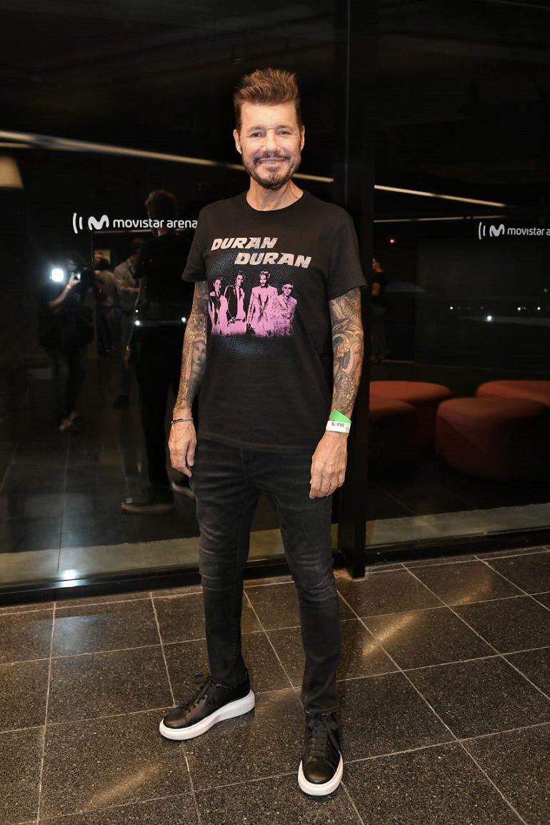 """Marcelo Tinelli fue uno de los famosos invitados a los tres shows que realizó Ricky Martin en el Movistar Arena en el marco de su gira """"Movimiento"""""""