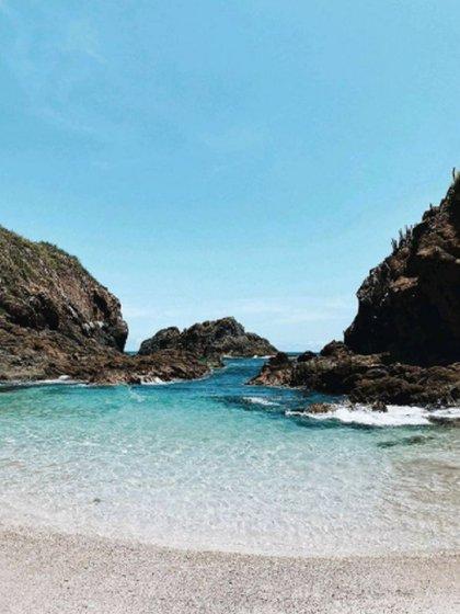 Playa Isla Cocina (Foto: Instagram @jalisco.esmexico vía @reginasotres)