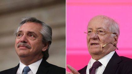 Alberto Fernández y Paolo Rocca