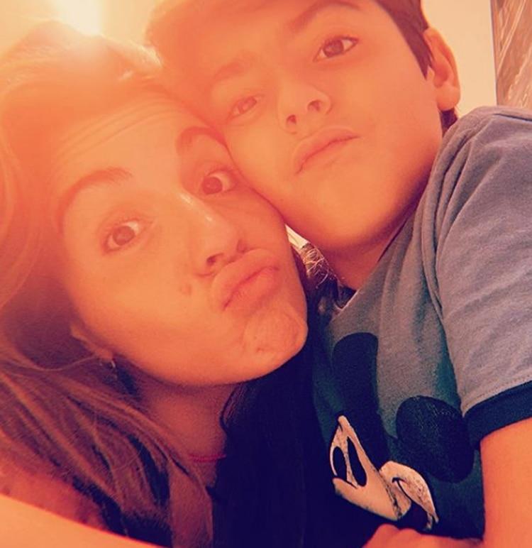 """Giannina Maradona le dedicó en las redes una carta a su hijo, Benjamín Agüero: """"Deseo que sigas creciendo así de feliz, así de bueno, así de simple y único como sos"""", le escribió la hija de """"El 10"""" (Foto: Instagram)"""
