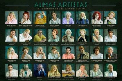 Algunos de los residentes y empleados de la Casa del Teatro (Crédito: Machado)