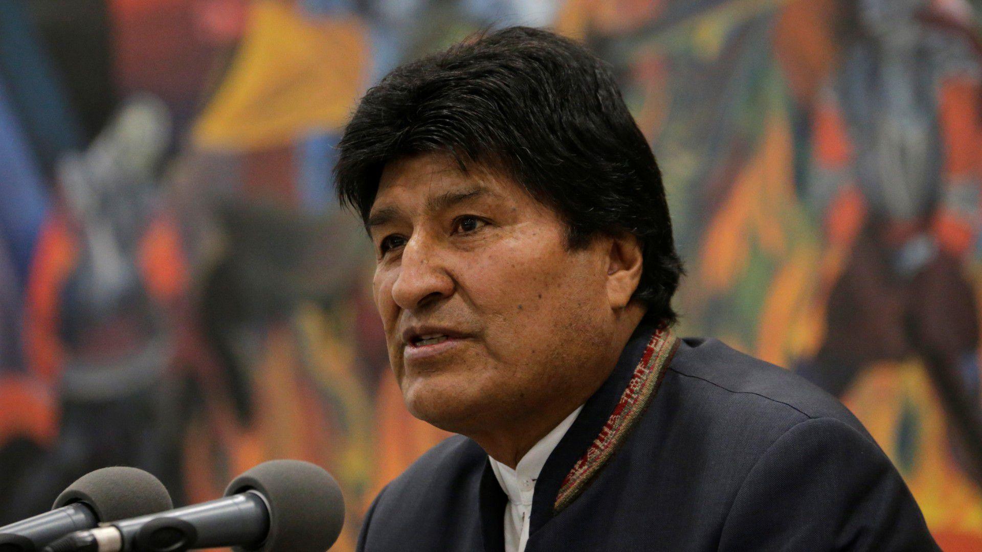 El presidente de Bolivia, Evo Morales, en rueda de prensa en el palacio presidencial La Casa Grande del Pueblo en La Paz (REUTERS/David Mercado)