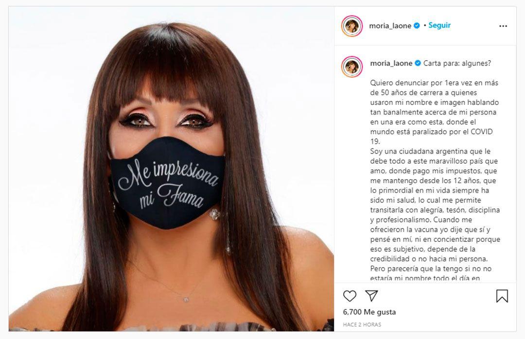 La respuesta de Moria Casán a las críticas por la vacunación