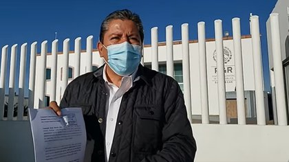 On October 25, David Monreal went to the FGR facilities in Zacatecas, denouncing that they wanted to tarnish his image by linking him to the drug trafficker (Photo: Facebook / David Monreal)