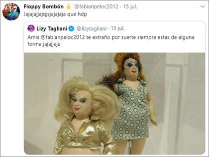 La broma de Lizy Tagliani a Floppy Cucu (Twitter)