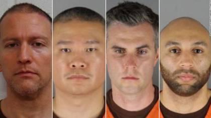 Los cuatro oficiales quedaron detenidos. Foto: Oficina del Sherif del condado de Hennepin
