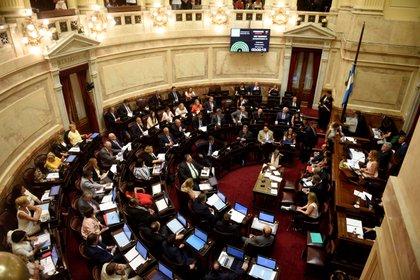 La sanción o no de la ley se definirá en la madrugada del miércoles en el recinto de la Cámara de Senadores (Mattiazzi/Archivo)
