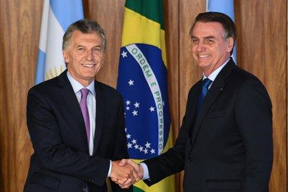 Macri y Bolsonaro (EVARISTO SA / AFP)