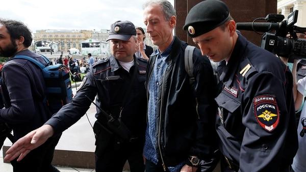 Se trata de la tercera detención en Rusia para Peter Tatchell (AFP)