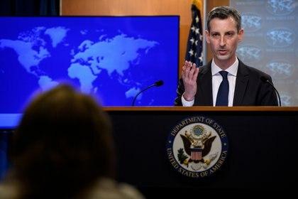 El portavoz del departamento de Estado, Ned Price. Foto: Nicholas Kamm/Pool via REUTERS