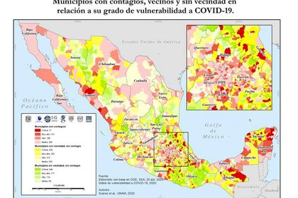 Una de los datos que se encuentra es el porcentaje de comorbilidades de acuerdo con cada estado (Gráfico: Cortesía UNAM)
