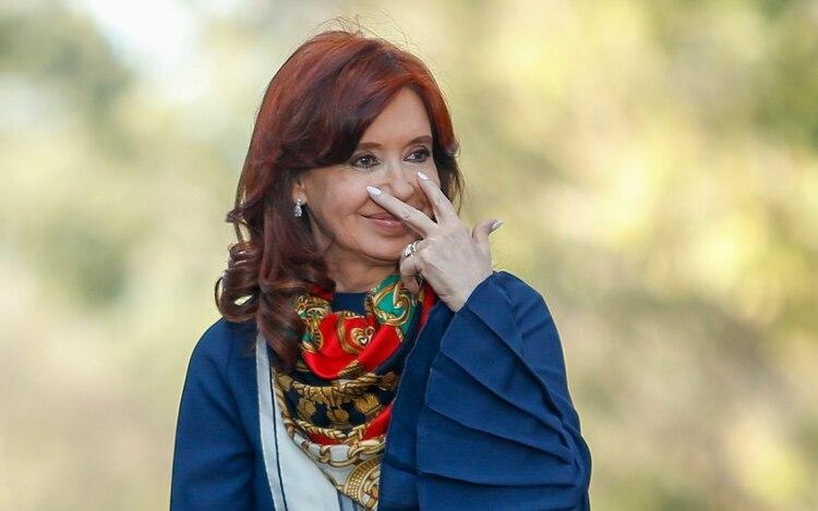 Cristina Kirchner, vicepresidenta, en los días de campaña (Nicolás Aboaf)