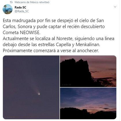 (Foto: Twitter Webcams de México vía Rada SC)